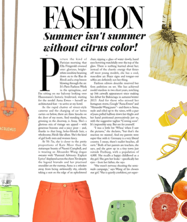 Citrus Colored Outfit