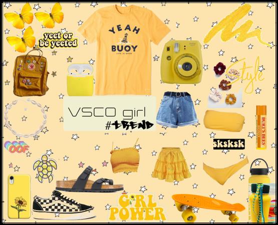VSCO girl - #trend #challenge #yellow