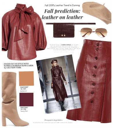 Fall trend: leather on leather