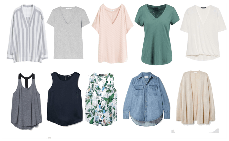 Tops and Outerwear for spring and summer