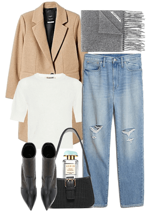 camel & heather grey