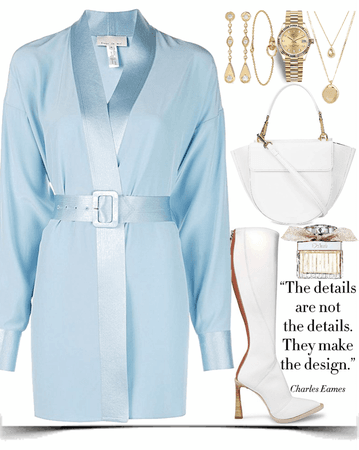 light blue with white & gold look