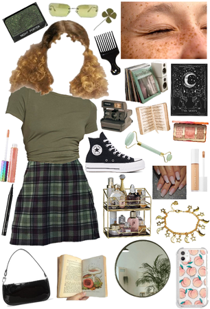 sage green girl