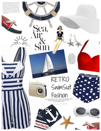 Retro Swimsuit/Sailing/boating