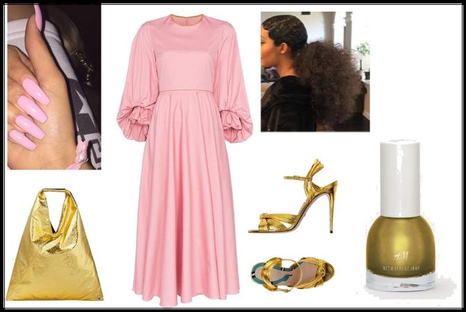 Metallic Gold and Pink