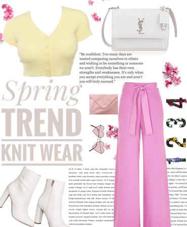 Spring trend knit wear