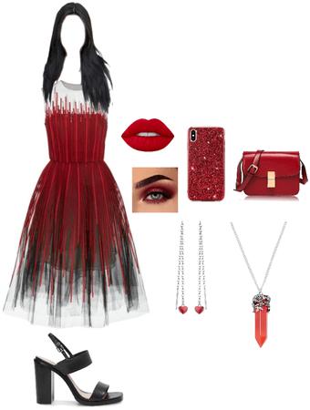 Red Romantic Short Dress