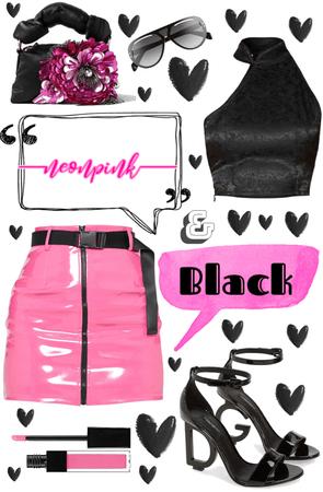 Neon Pink & Black