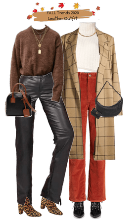leather + corduroy fall fits