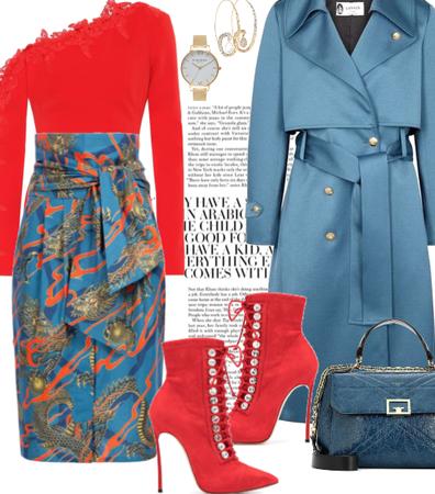 Wrap-Around-Waist Skirt.