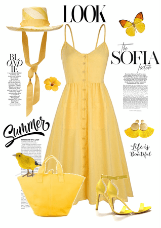 Summer Hat in Yellow Vibes