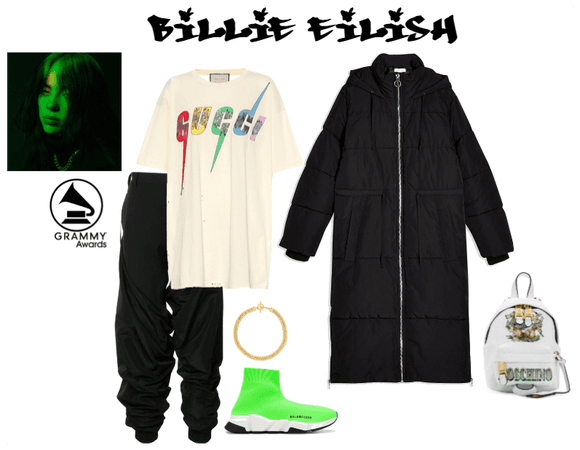 Billie Eillish Grammy Outfit