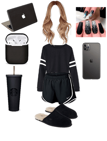 black outfit for home school