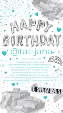happy birthday @tat-jana