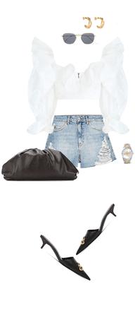 basic shorts with unusual pieces