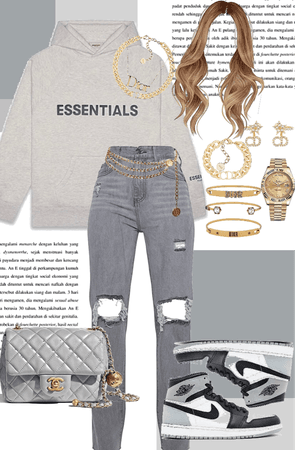 Grey Monochromatic Winter fit