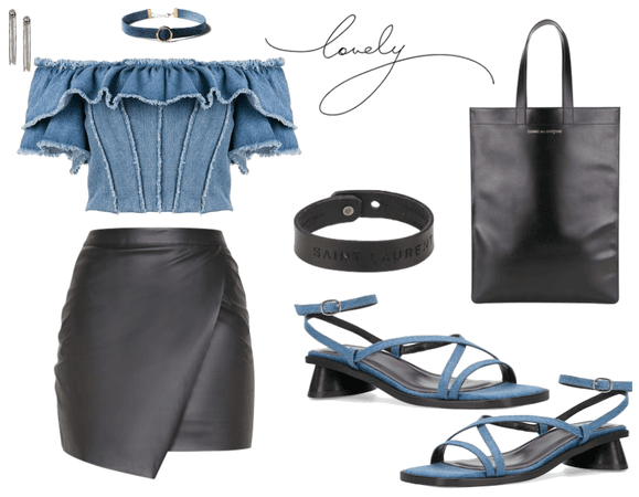 lovely leather and denim