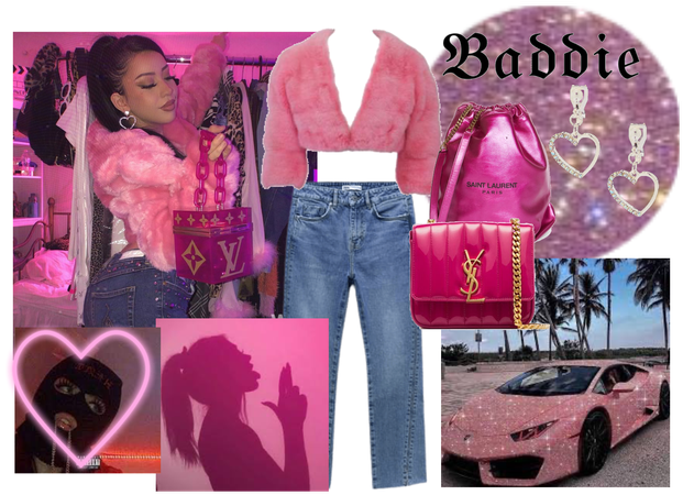 Baddie neon pink picture inspired