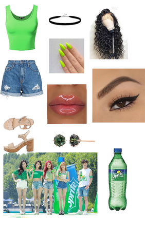 Imagine Y/N and Blackpink at the Sprite invent with Do Hwan