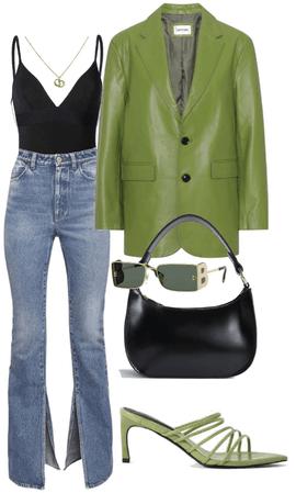 leather jacket 💚