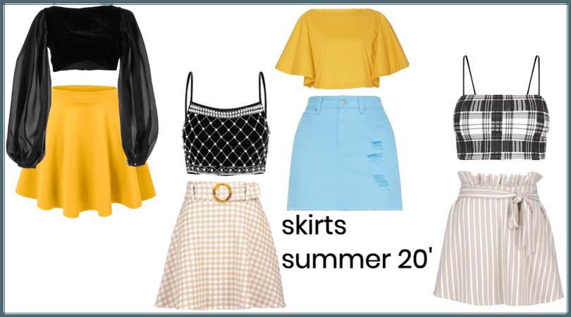 skirts inspo summer 20'