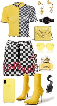 yellow and checkered