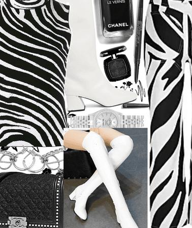 zebra knee high