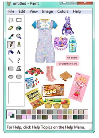 blue agere outfit with snacks
