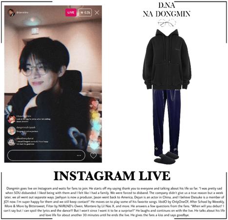 D.NA [나동민] - instagram live (14042021)