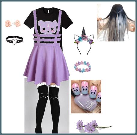 pastel goth kitten