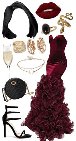 red carpet red dress
