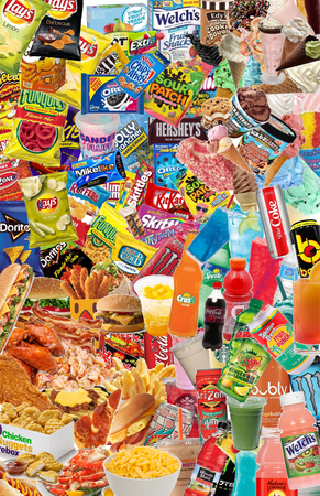 Food+drinks+snacks+sweets=Yum