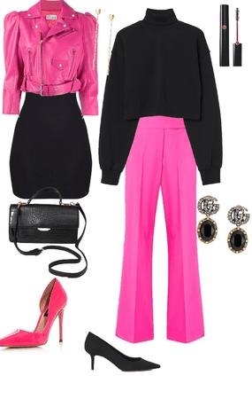 black-pink chic