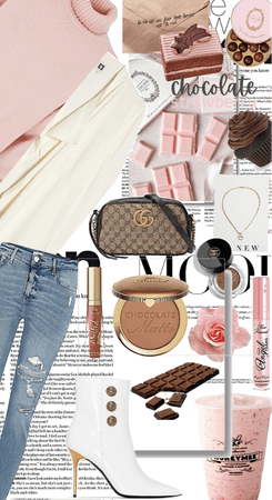 pink and chocolate chic