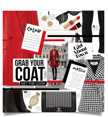 Get The Look: Layer A Red Coat
