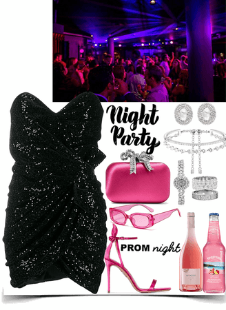 Night party-prom in a club
