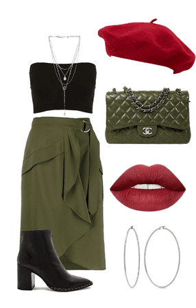 olive green and red 🐸🐔