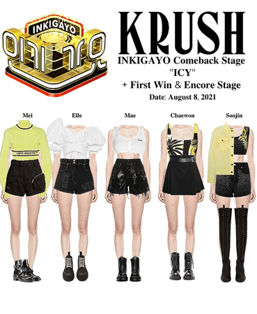 """KRUSH Inkigayo Comeback Stage """"ICY"""" + First Stage & Encore Stage"""