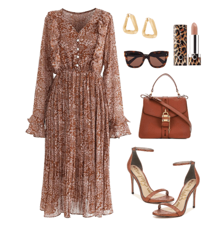 A brown modest look