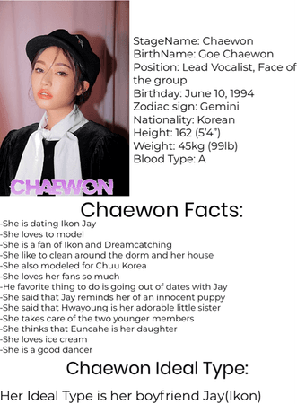 Chaewon 2020 Profile | October 3, 2020