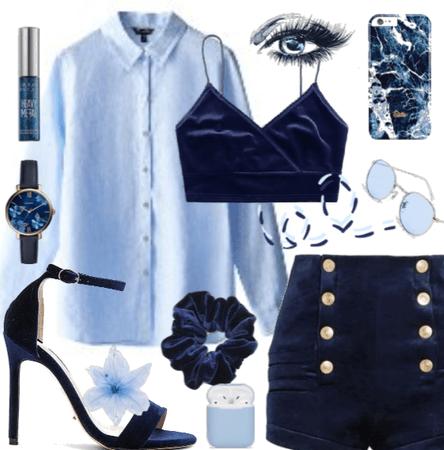 Blue & Navy Blue