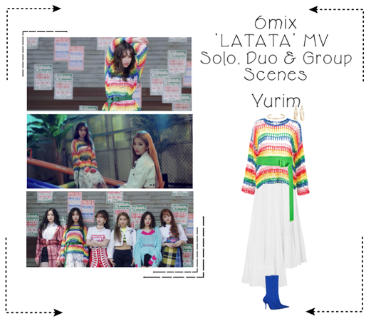 《6mix》'LATATA' Music Video-Yurim 3rd Outfit Scene