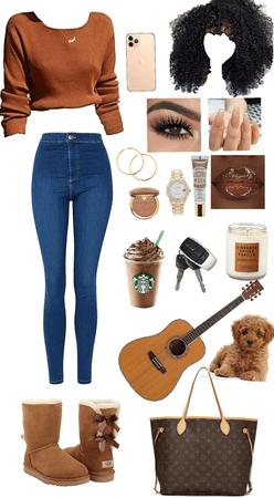 brown skin girl 👧🏾