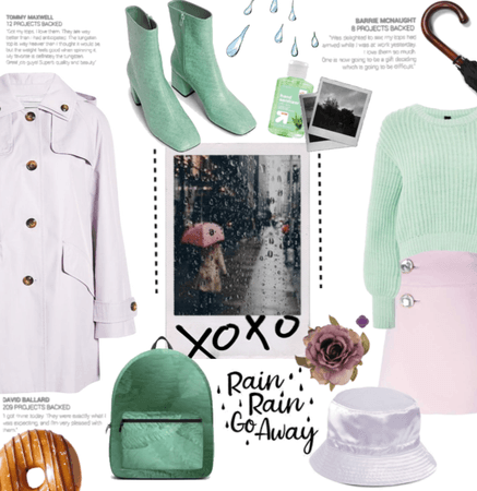 Lilac And pastel Green April showers