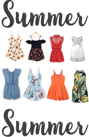 rompers; rompers are the epitome of summer outfits ahhhh- here are some cute rompers!!!