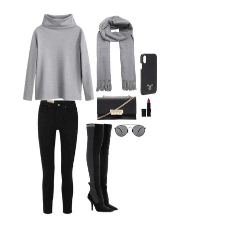 NYC autumn girl