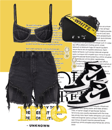 black with a small touch of yellow