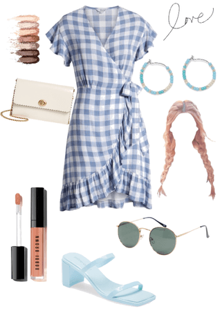 a blue outfit for summer