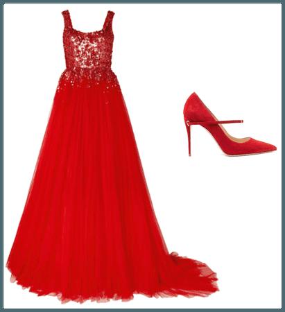 Red dresss