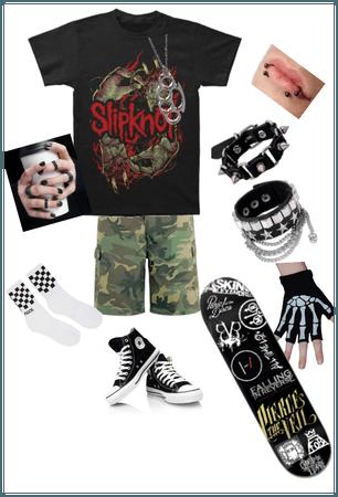 Slipknot emo skater boy outfit